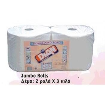 Χαρτί Ρολό 3 Kgr Α' Ποιότητας (βιομηχανικό)